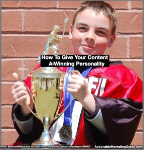 How To Give Your Content A Winning Personality