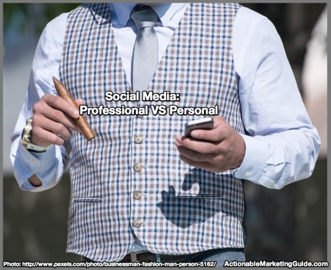 businessman with social media on mobile phone