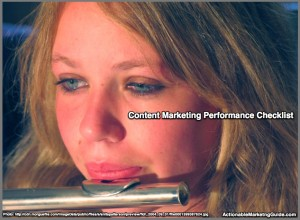 Content Marketing Performance Checklist: 1H2015