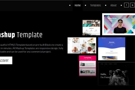 Mashup Template, free collection of web templates for commercial use
